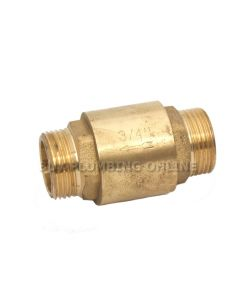 Firebird Check Valve 3/4 Brass Male/Male ACC034MMC