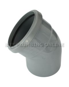 Floplast 110mm Soil Bend 135° Single Socket Grey SP163