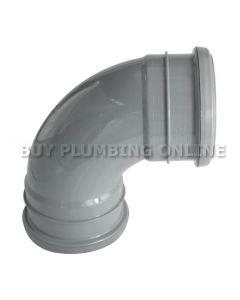 Floplast 110mm Soil Bend 92.5° Double Socket Grey SP561