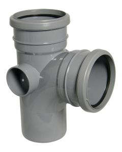 Floplast 110mm Soil Branch 92.5° Double Socket Grey SP190