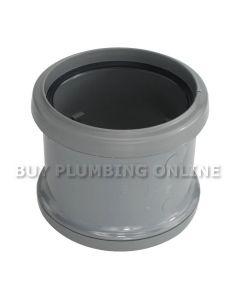 Floplast 110mm Soil Coupling Double Socket Grey SP105