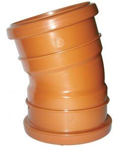 Floplast 110mm Underground Bend Double Socket 15° D567