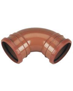 Floplast 110mm Underground Bend Double Socket 87.5° D561