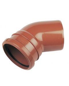 Floplast 110mm Underground Bend Single Socket 45° D163
