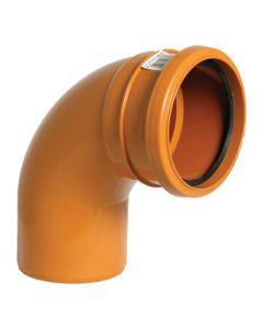 Floplast 110mm Underground Bend Single Socket 87.5° D161