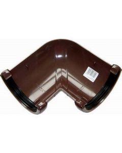 Floplast112mm Half Round Gutter Angle 90° Brown RA1BR
