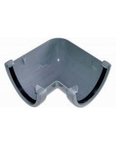 Floplast115mm Hi-Cap Gutter Angle 90° Grey RAH1G