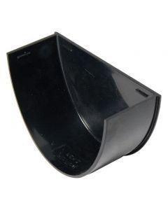 Floplast 115mm Hi-Cap Gutter Stop End Internal Black REH2B