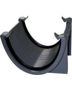 Floplast 115mm Hi-Cap Gutter Union Grey RUH1G