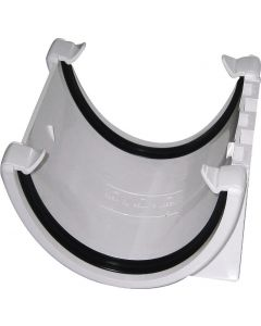 Floplast 115mm Hi-Cap Gutter Union White RUH1W