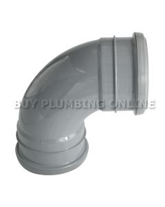 Floplast 110mm Soil Bend 92.5° Double Socket Grey SP561