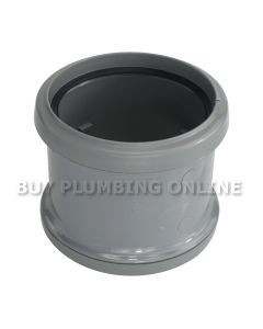 Floplast 110mm Soil Coupling Double Socket Grey SP105