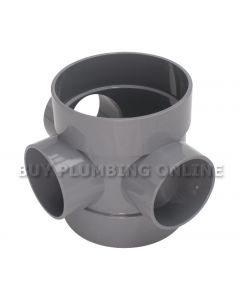 Floplast 110mm Soil Short Boss Pipe Grey SP583