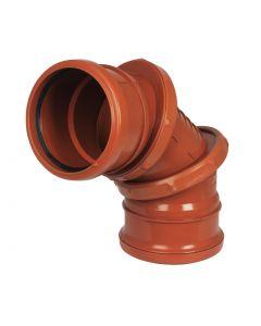 Floplast 110mm Underground Adjustable Bend 0-90° D560