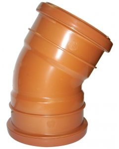 Floplast 110mm Underground Bend Double Socket 30° D564