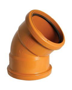 Floplast 110mm Underground Bend Double Socket 45° D563