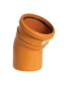 Floplast 110mm Underground Bend Single Socket 30° D164