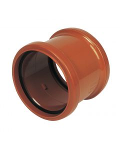 Floplast 110mm Underground Double Socket Coupling D105