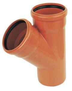 Floplast 110mm Underground Junction 45° Double Socket D210