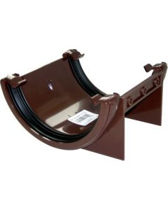 Floplast 112mm Half Round Gutter Union Brown RU1BR