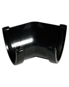 Floplast 115mm Hi-Cap Gutter Angle 45° Black RAH2B