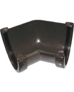 Floplast 115mm Hi-Cap Gutter Angle 45° Brown RAH2BR