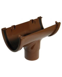 Floplast 115mm Hi-Cap Gutter Outlet Brown ROH1BR