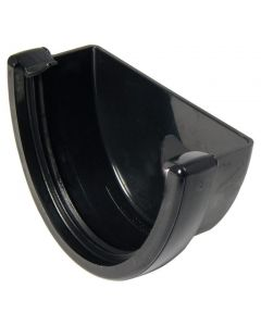Floplast 115mm Hi-Cap Gutter Stop End External Black REH1B