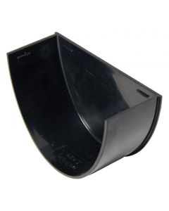 Floplast 115mm Hi-Cap Gutter Stop End Internal Black REH2B