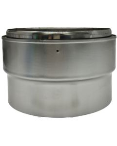 Flue Adaptor Stove Pipe to Flexible Liner  150mm