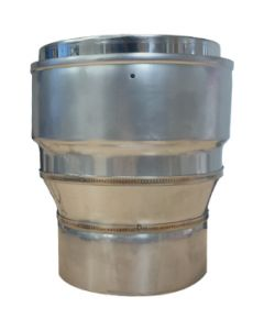 Flue Increaser Adaptor Stove Pipe to Flexible Liner  125mm-150mm