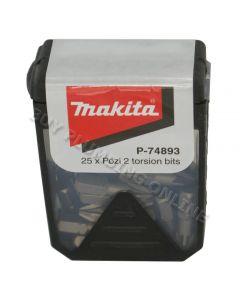 Makita Torsion Pozi PZ2 Bit x 25 P74893