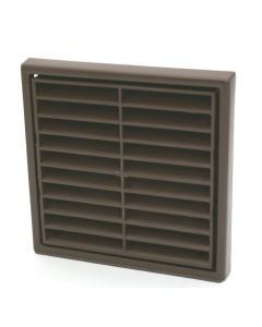 Manrose Louvred Grille Interior/Exterior Brown R41051B