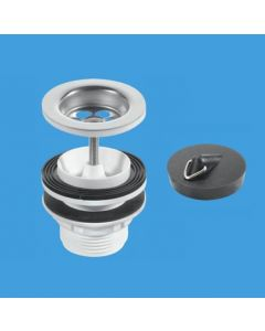McAlpine 1¼ Centre Pin Basin Waste with Plug CP BSW11PC