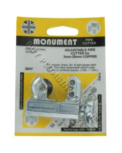 Monument Adjustable Pipecutter 3-22mm 264Y