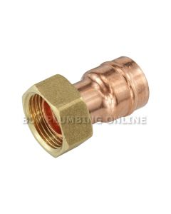 "Solder Ring Str Tap Connector 22mm x 3/4"" (Pack of 5)"