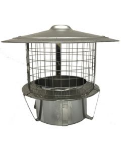Steel Pot Hanger with Rain Cap & Mesh 150mm