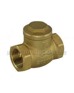 Swing Check Valve Brass 3/4