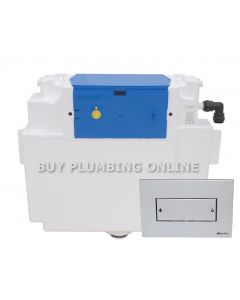 Thomas Dudley Vantage Dual Flush Cistern with Coral Push Plate 327022
