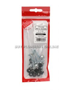 Timco Chrome Mirror Screws 8 x 1 1/2 (8) 08112CMIRP