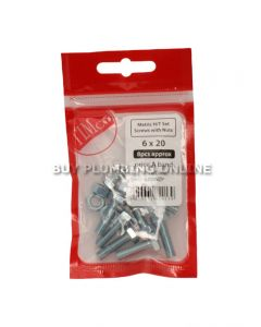 Timco Metric H/T Set Screw with Nut 6 x 20 (8) 620SNZP