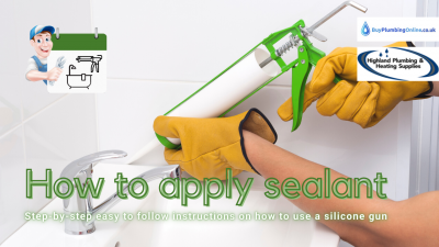 How to apply sealant using a silicone gun