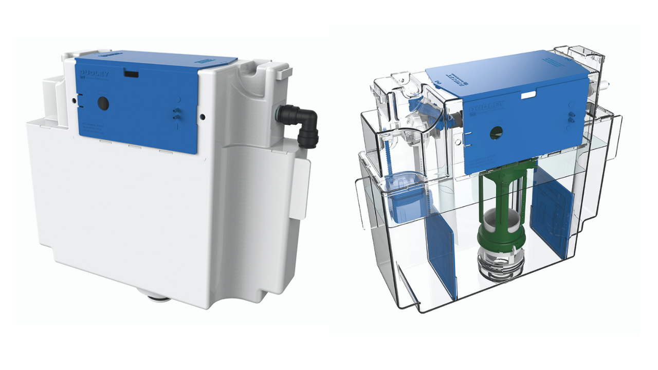 Thomas Dudley Vantage Cistern Product Image & Internal components displayed as if the outer casing were clear